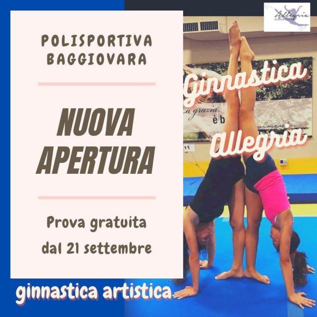 ⚠️‼️ Nuova apertura Baggiovara‼️⚠️  Prova gratuita  Per info ℹ️ ginnasticasanfaustino@gmail.com