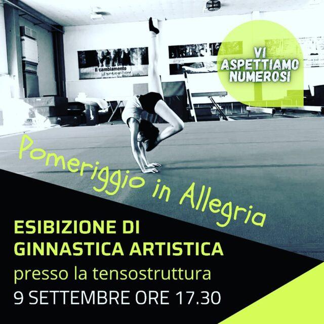Vi aspettiamo domani!!! Presso la tensostruttura della palestra ginnastica Allegria!!! #ginnasticaartistica #polisportivasanfaustino